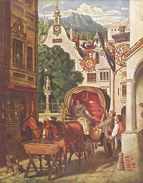 Moritz von Schwind, Hochzeitsreise , Wikimedia