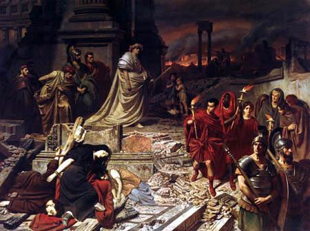 Carl Theodor von Piloty, Der Brand von Rom, Wikimedia