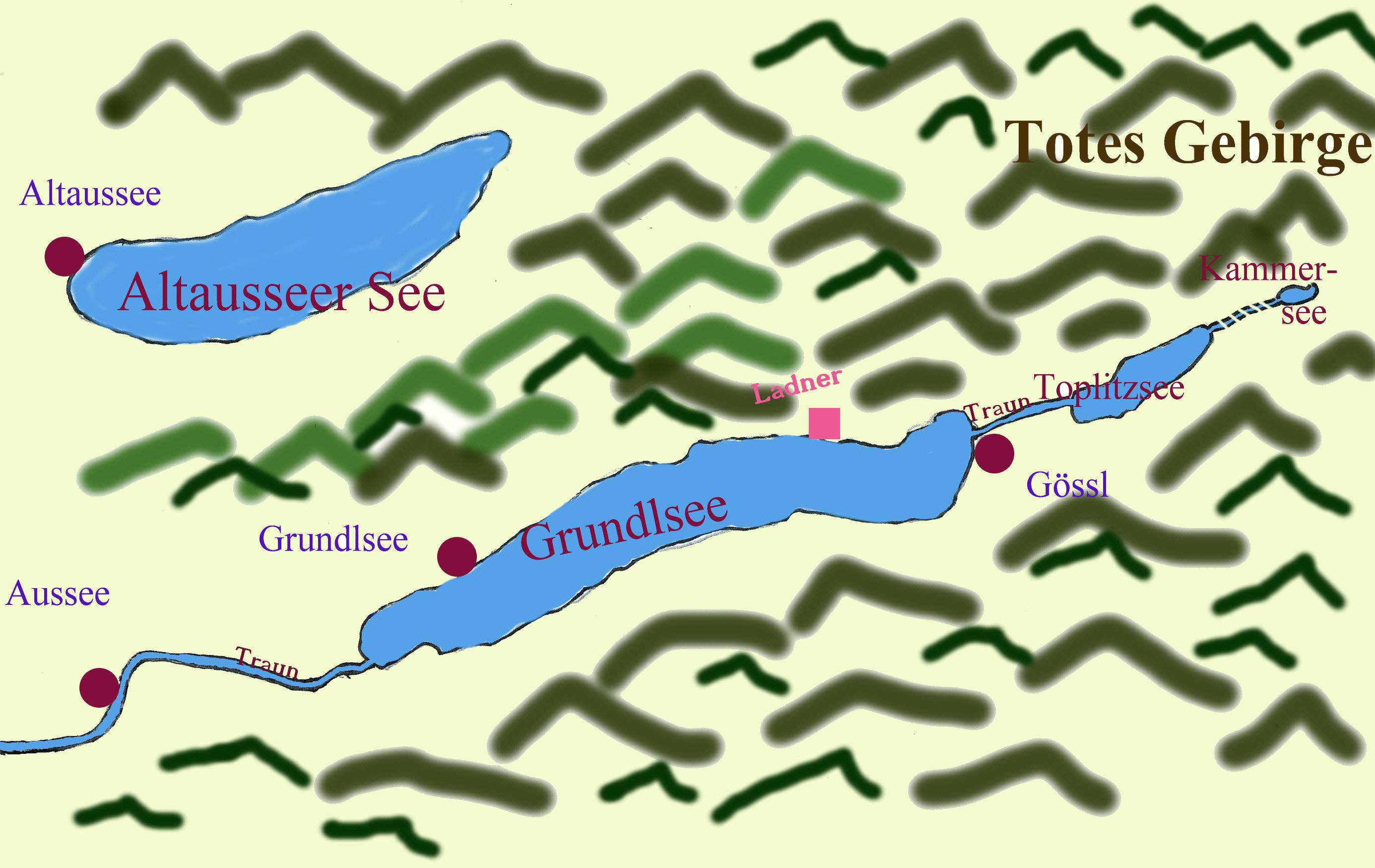 Karte Seen