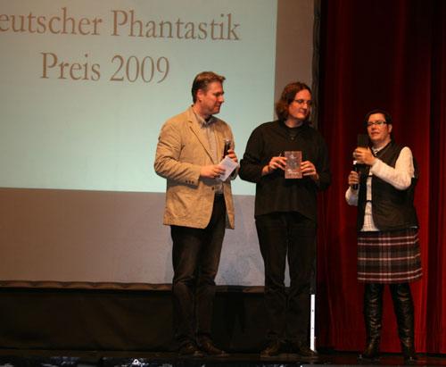 Bild Copyright Brigitte Fielicke - Überreichung des Deutschen Phantastikpreises 2009 an Ju Honisch